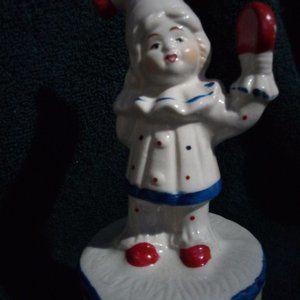 Rare/Vintage porcelain clown music box